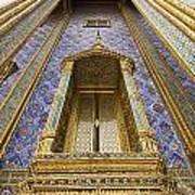 Detail Of Window And Columns Of Wat Art Print