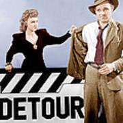 Detour, From Left Ann Savage, Tom Neal Art Print by Everett