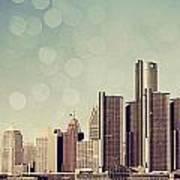 Detroit Dreamy Skyline Art Print