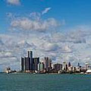 Detroit Michigan Skyline Art Print by Twenty Two North Photography