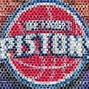 Detroit Pistons Mosaic Art Print