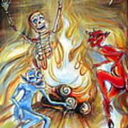 Devil's Inferno Art Print