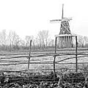 Dezwaan Windmill In Holland Michigan During November Art Print