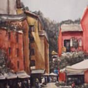 Dia De Compras Na Riviera Art Print