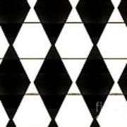 Diamonds White And Black Art Print