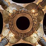 Digital Liquid -  Ww II Memorial Victory Wreath Art Print