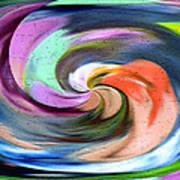 Digital Swirl Of Color 2001 Art Print