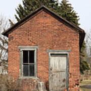 Dilapidated Old Brick Building Print by John Stephens