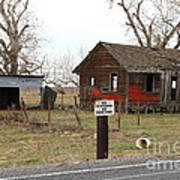 Dilapidated Old Farm House . No Trespassing . No Hunting . 7d10335 Art Print by Wingsdomain Art and Photography