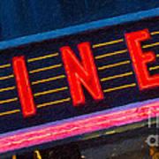 Diner Sign In Neon Art Print