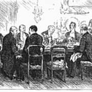 Dinner Party, 1880 Art Print