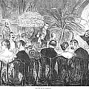 Dinner Party, 1885 Art Print