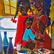 Dinner With Mom Art Print