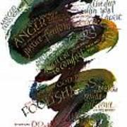 Discomfort Green Art Print by Judy Dodds