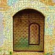 Do-00489 Old Door Within A Door-crackles Art Print
