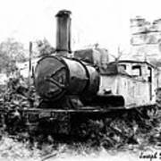 Do-00508 Mar Mikhael Train Bw Art Print