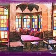 Do-00520 Emir Bachir Palace Interior-violet Bkgd Art Print