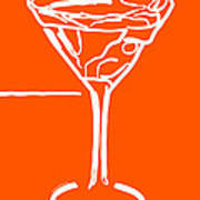 Do Not Panic - Drink Martini - Orange Art Print