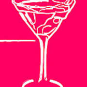 Do Not Panic - Drink Martini - Pink Art Print