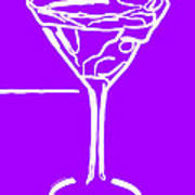 Do Not Panic - Drink Martini - Purple Art Print by Wingsdomain Art and Photography