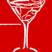 Do Not Panic - Drink Martini - Red Art Print by Wingsdomain Art and Photography