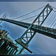 Dock By The San Francisco Bay Bridge Art Print