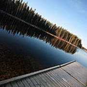 Dock On Northern Manitoba Lake Art Print