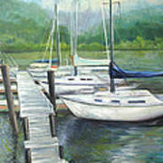 Dock Side Art Print