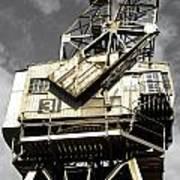 Dockside Crane Art Print