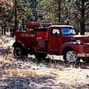 Logging Fire Truck Art Print