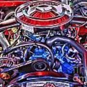 Dodge Motor Hdr Art Print