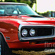 Dodge Super Bee Classic Red Art Print by Paul Ward