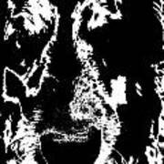 Dog Abstract Black And White Art Print