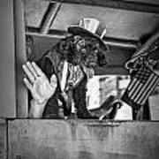 Dog On The Campaign Trail Art Print