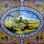 Don Quixote In Spanish Tile Art Print