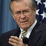 Donald H. Rumsfeld Secretary Of Defense Art Print