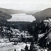 Donner Lake - California - C 1865 Art Print