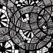 Doodle Circular  Art Print