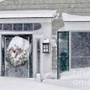 Door And Window Of Cape Cod Home During Blizzard Of '05 Art Print
