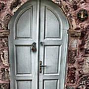 Door In Santorini Art Print