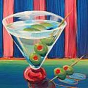 Double Dirty Martini Art Print