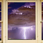Double Lightning Strike Picture Window Art Print
