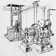 Double Oscillating Steam Engine Art Print