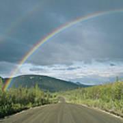 Double Rainbow Over The Denali Highway Art Print