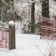 Double Red Iron Gates Art Print