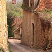 Down The Lane In Beynac France Art Print