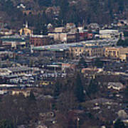 Downtown Grants Pass Sunday Morning Art Print