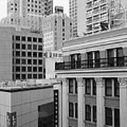 Downtown San Francisco Buildings - 5d19323 - Black And White Art Print by Wingsdomain Art and Photography