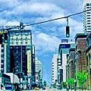 Downtown Union Ave Memphis Tn Art Print