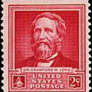 Dr Crawford W Long Postage Stamp Art Print